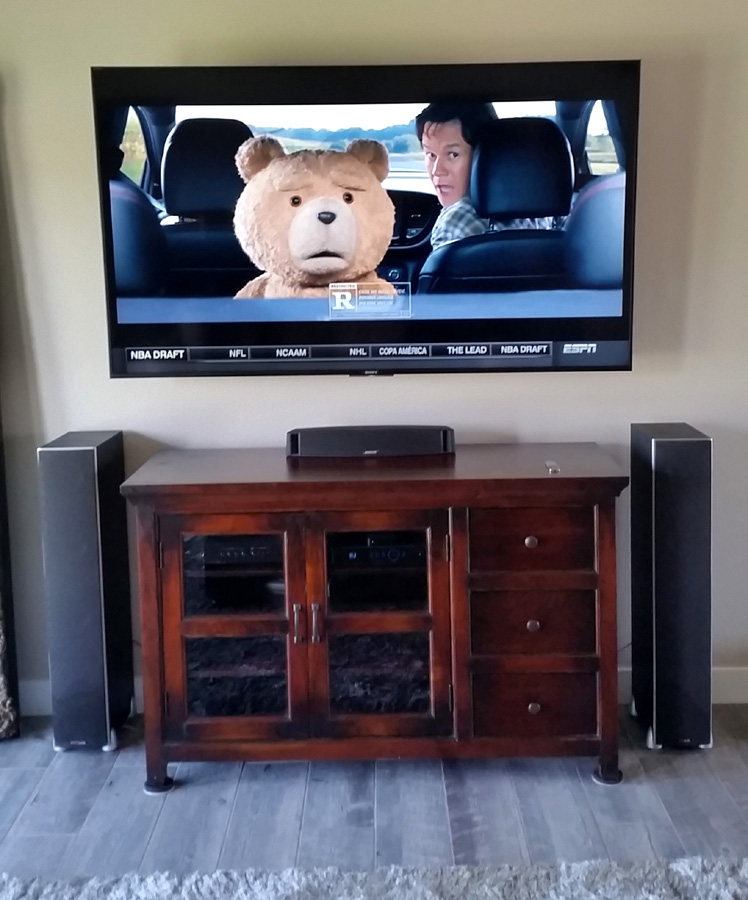75 inch sony wall mounted