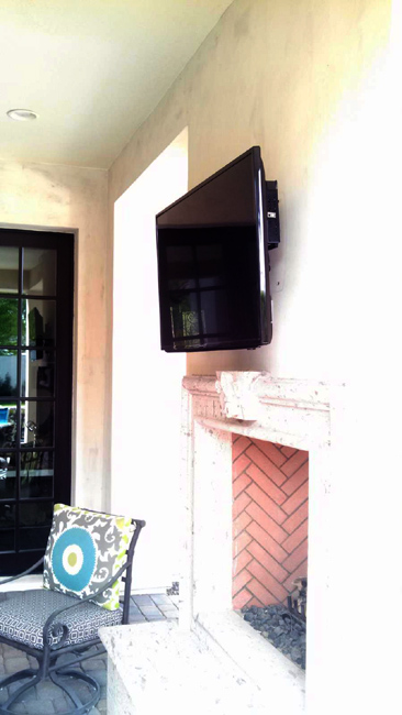 Outdoor TV with Cable Box