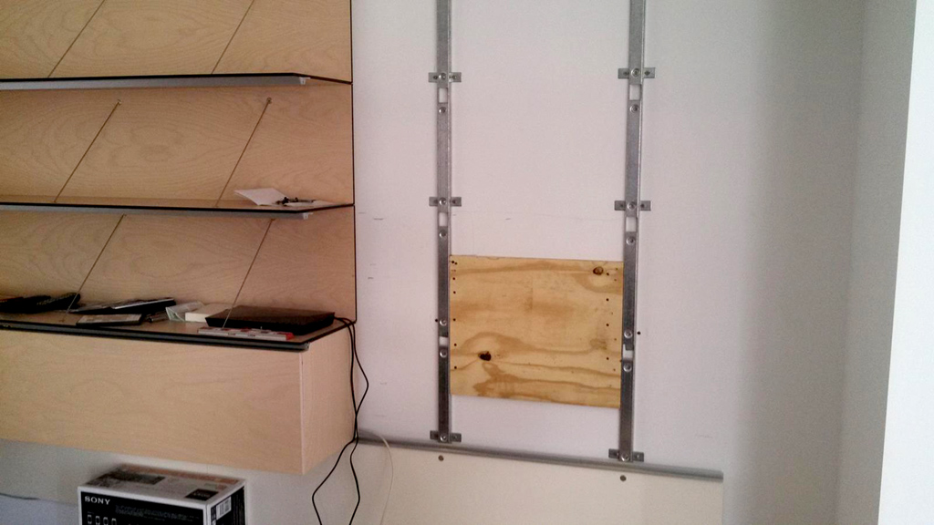 Plywood Backing for Cantilever Mount