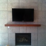 Sony LED Fireplace Mount Hidden Cox DVR