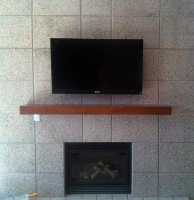 46 Inch Sony Led Fireplace Mount Hidden Cox Dvr Electronics Sales