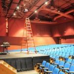 High School Auditorium Projection installation
