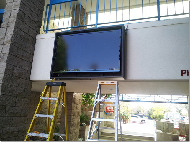 Sharp LED in outdoor weather proof enclosure