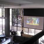 Panasonic Projector with Draper Premier Screen