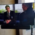49 inch Sony on Patio full motion mount