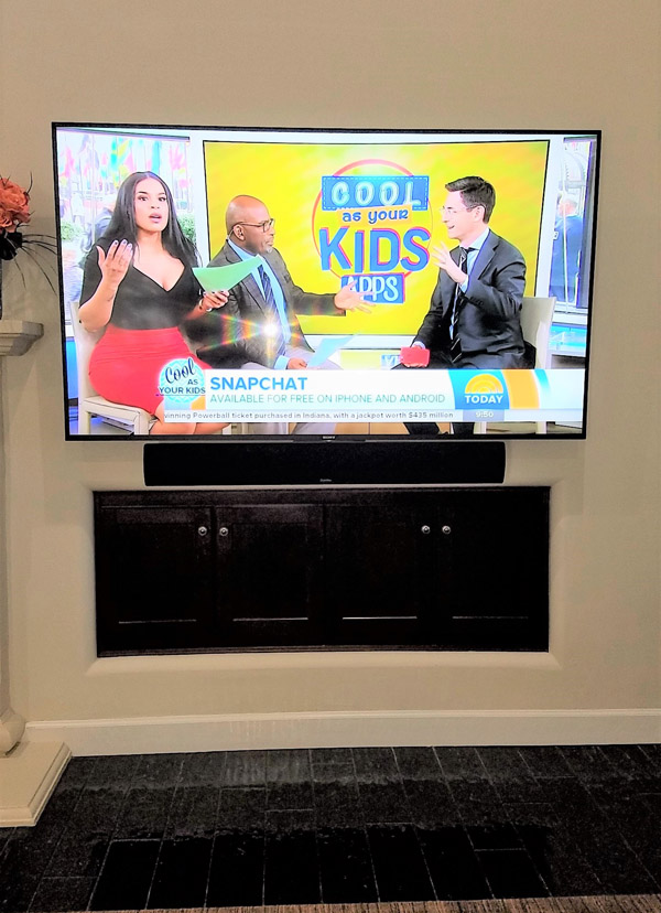 Sony XBR 65 inch with Definitive Technology passive sound bar